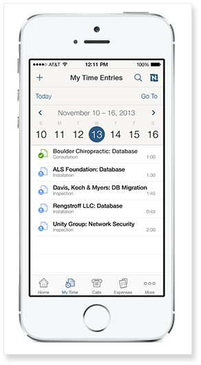 Manage Time & Expenses on Your iPhone
